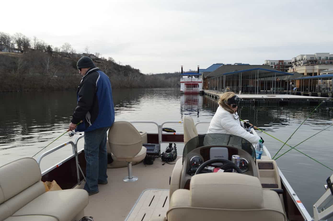Large group pontoon fishing branson fishing guide service for Branson fishing guide
